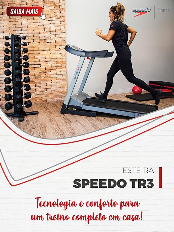 Esteira Speedo TR3 Residencial Ergométrica - Mobile