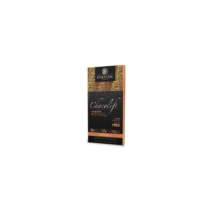 Chocolift Be Powerful - 40G (Chocolate Proteico Com Nibs De Cacau)