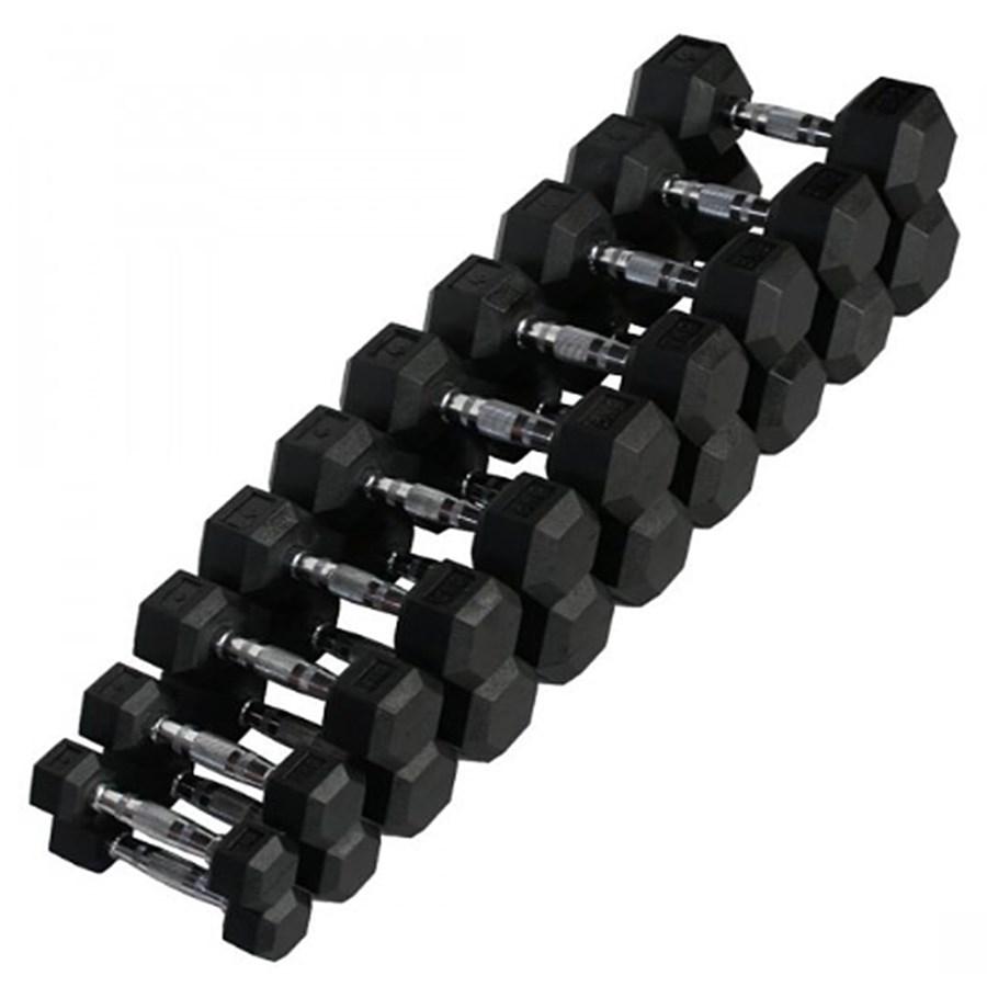Dumbell Halteres Starke 1 a 10 kg Hexagonal, Texturizado e Cromado (Pares)