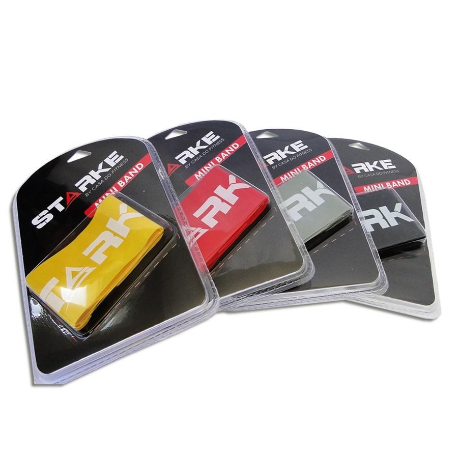 Kit Starke de Mini Bands + Corda de Pular + Tapete Yoga MAT